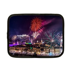 New Year New Year's Eve In Salzburg Austria Holiday Celebration Fireworks Netbook Case (small)  by Onesevenart