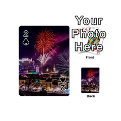New Year New Year's Eve In Salzburg Austria Holiday Celebration Fireworks Playing Cards 54 (Mini)  by Onesevenart