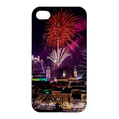 New Year New Year's Eve In Salzburg Austria Holiday Celebration Fireworks Apple Iphone 4/4s Hardshell Case by Onesevenart