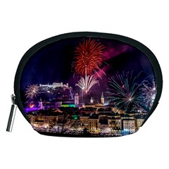 New Year New Year's Eve In Salzburg Austria Holiday Celebration Fireworks Accessory Pouches (Medium)  by Onesevenart