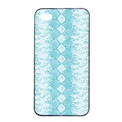 Snake Skin Blue Chevron Wave Apple Iphone 4/4s Seamless Case (black) by AnjaniArt