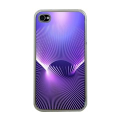 Space Galaxy Purple Blue Line Apple Iphone 4 Case (clear) by AnjaniArt