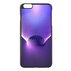 Space Galaxy Purple Blue Line Apple Iphone 6 Plus/6s Plus Black Enamel Case by AnjaniArt