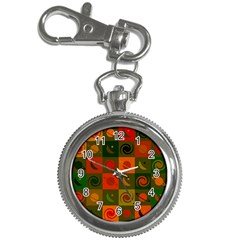 Space Month Saturnus Planet Star Hole Black White Multicolour Orange Key Chain Watches by AnjaniArt
