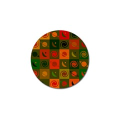 Space Month Saturnus Planet Star Hole Black White Multicolour Orange Golf Ball Marker by AnjaniArt