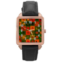 Space Month Saturnus Planet Star Hole Black White Multicolour Orange Rose Gold Leather Watch  by AnjaniArt