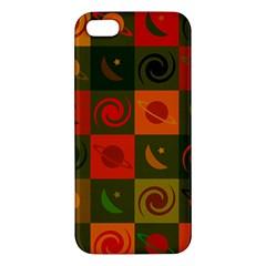 Space Month Saturnus Planet Star Hole Black White Multicolour Orange Apple Iphone 5 Premium Hardshell Case by AnjaniArt