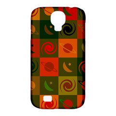 Space Month Saturnus Planet Star Hole Black White Multicolour Orange Samsung Galaxy S4 Classic Hardshell Case (pc+silicone) by AnjaniArt