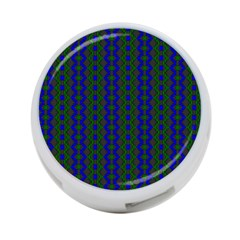 Split Diamond Blue Green Woven Fabric 4 Port Usb Hub (one Side) by AnjaniArt