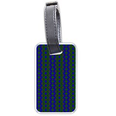 Split Diamond Blue Green Woven Fabric Luggage Tags (one Side)  by AnjaniArt