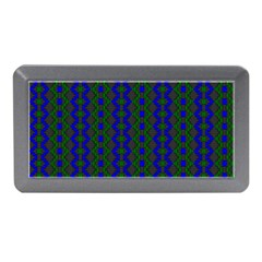 Split Diamond Blue Green Woven Fabric Memory Card Reader (mini) by AnjaniArt