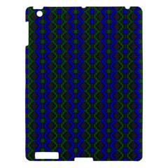 Split Diamond Blue Green Woven Fabric Apple Ipad 3/4 Hardshell Case by AnjaniArt