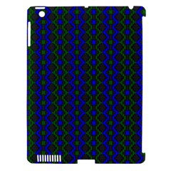 Split Diamond Blue Green Woven Fabric Apple Ipad 3/4 Hardshell Case (compatible With Smart Cover) by AnjaniArt