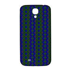 Split Diamond Blue Green Woven Fabric Samsung Galaxy S4 I9500/i9505  Hardshell Back Case by AnjaniArt