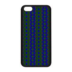 Split Diamond Blue Green Woven Fabric Apple Iphone 5c Seamless Case (black) by AnjaniArt