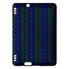 Split Diamond Blue Green Woven Fabric Kindle Fire Hdx Hardshell Case by AnjaniArt