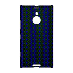 Split Diamond Blue Green Woven Fabric Nokia Lumia 1520 by AnjaniArt