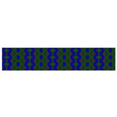 Split Diamond Blue Green Woven Fabric Flano Scarf (small) by AnjaniArt