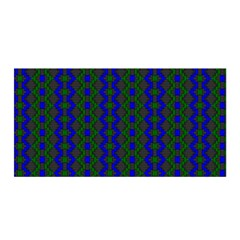 Split Diamond Blue Green Woven Fabric Satin Wrap by AnjaniArt