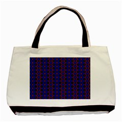 Split Diamond Blue Purple Woven Fabric Basic Tote Bag by AnjaniArt