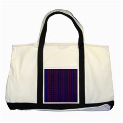Split Diamond Blue Purple Woven Fabric Two Tone Tote Bag by AnjaniArt