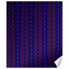 Split Diamond Blue Purple Woven Fabric Canvas 8  X 10  by AnjaniArt