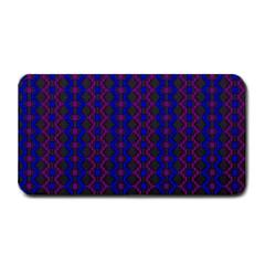 Split Diamond Blue Purple Woven Fabric Medium Bar Mats by AnjaniArt