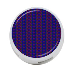 Split Diamond Blue Purple Woven Fabric 4 Port Usb Hub (two Sides)  by AnjaniArt