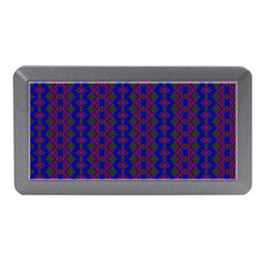 Split Diamond Blue Purple Woven Fabric Memory Card Reader (mini) by AnjaniArt