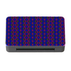 Split Diamond Blue Purple Woven Fabric Memory Card Reader With Cf by AnjaniArt