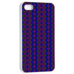 Split Diamond Blue Purple Woven Fabric Apple Iphone 4/4s Seamless Case (white) by AnjaniArt