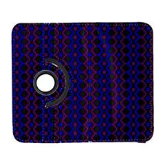 Split Diamond Blue Purple Woven Fabric Galaxy S3 (flip/folio) by AnjaniArt