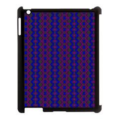 Split Diamond Blue Purple Woven Fabric Apple Ipad 3/4 Case (black) by AnjaniArt