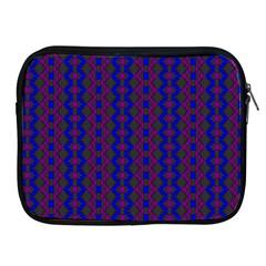 Split Diamond Blue Purple Woven Fabric Apple Ipad 2/3/4 Zipper Cases by AnjaniArt