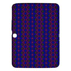 Split Diamond Blue Purple Woven Fabric Samsung Galaxy Tab 3 (10 1 ) P5200 Hardshell Case  by AnjaniArt