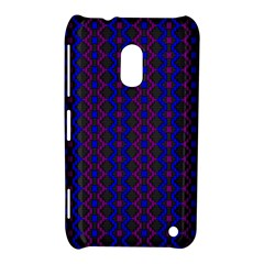 Split Diamond Blue Purple Woven Fabric Nokia Lumia 620 by AnjaniArt