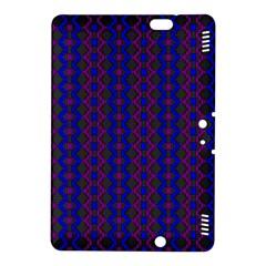 Split Diamond Blue Purple Woven Fabric Kindle Fire Hdx 8 9  Hardshell Case by AnjaniArt
