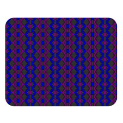 Split Diamond Blue Purple Woven Fabric Double Sided Flano Blanket (large)  by AnjaniArt
