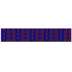 Split Diamond Blue Purple Woven Fabric Flano Scarf (large) by AnjaniArt