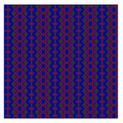 Split Diamond Blue Purple Woven Fabric Large Satin Scarf (square) by AnjaniArt