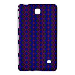 Split Diamond Blue Purple Woven Fabric Samsung Galaxy Tab 4 (7 ) Hardshell Case  by AnjaniArt