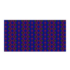 Split Diamond Blue Purple Woven Fabric Satin Wrap by AnjaniArt