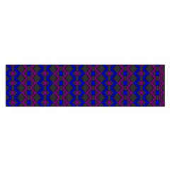 Split Diamond Blue Purple Woven Fabric Satin Scarf (oblong) by AnjaniArt
