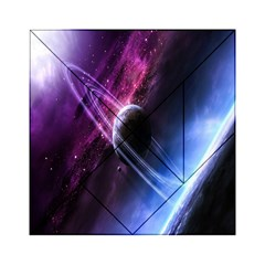 Space Pelanet Saturn Galaxy Acrylic Tangram Puzzle (6  X 6 ) by AnjaniArt