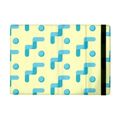 Squiggly Dot Pattern Blue Yellow Circle Ipad Mini 2 Flip Cases by AnjaniArt
