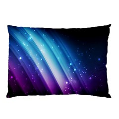 Space Purple Blue Pillow Case by AnjaniArt