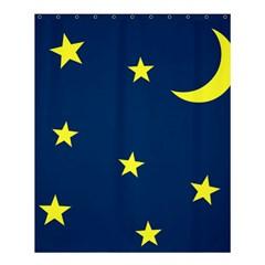 Star Moon Blue Sky Shower Curtain 60  X 72  (medium)  by AnjaniArt
