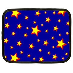 Star Blue Sky Yellow Netbook Case (large) by AnjaniArt
