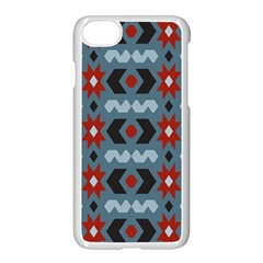 Star Wave Chevron Grey Gray Apple Iphone 7 Seamless Case (white) by AnjaniArt