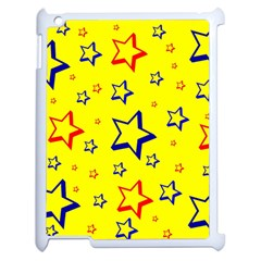 Star Yellow Red Blue Apple Ipad 2 Case (white) by AnjaniArt